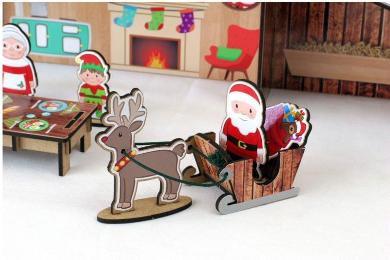 Casita de Papá Noel reno
