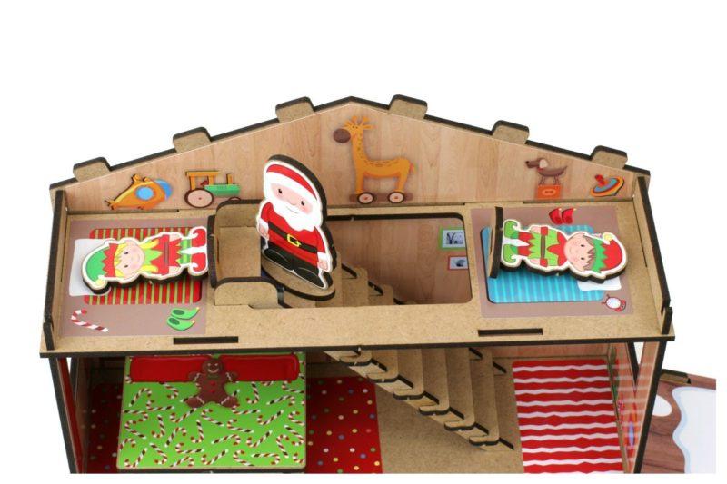 Casita de Papá Noel tejado