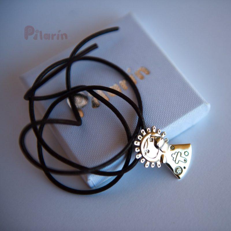 Medalla Pilarín de plata con cajita -