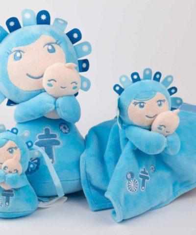 Familia Pilarín Azul fondo